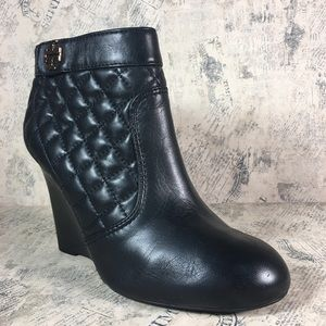 Tory Burch Leila quilted wedge booty